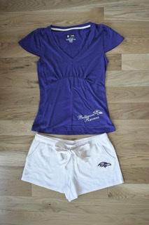Baltimore Ravens Luxe Short & Top Sleepwear Set