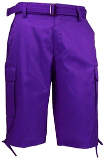 Purple Cargo Shorts By Regal Wear