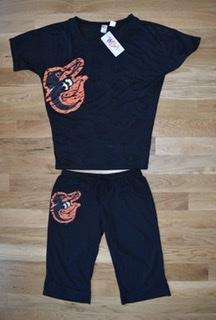 Baltimore Orioles Ladies Burnout Sleepwear Set