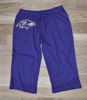 Baltimore Ravens Burnout Capri Pants