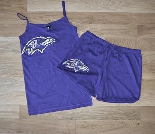 Baltimore Ravens Ladies Burnout Tank & Short Sleepwear Set