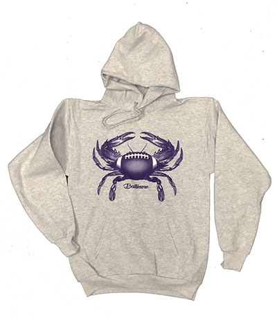 Baltimore Football Crab Hooded Sweatshirt