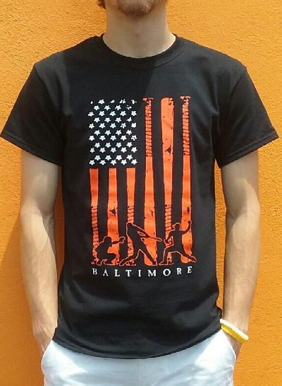 Wild Bill's Patriotic Baltimore Baseball T-Shirt