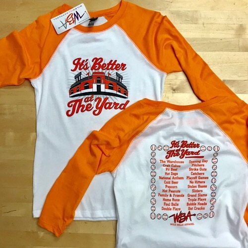"""It's Better At The Yard"" Ladies Baseball T-Shirt"