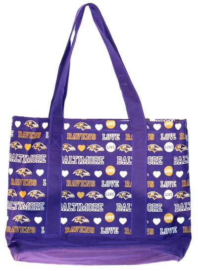 Ravens Love Tote Bag