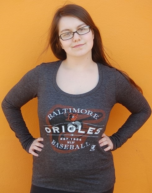 Majestic Threads Ladies Long Sleeve Baltimore Orioles T-Shirt