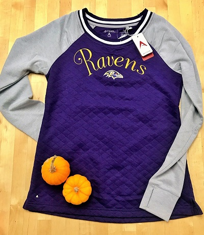 Baltimore Ravens Ladies MVP Pullover Sweatshirt By Antigua