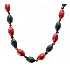 Red and Black Football Beads