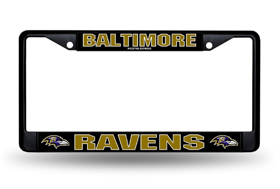 Baltimore Ravens Black Chrome License Plate Frame