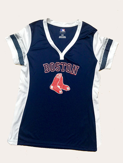 Boston Red Sox Game Time Ladies Fashion Jersey Shirt