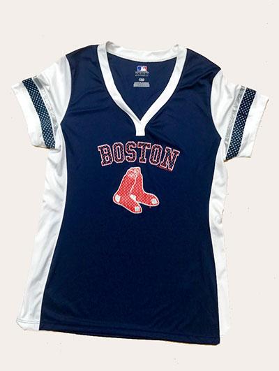 Boston Red Sox Game Time Ladies Fashion Jersey Shirt