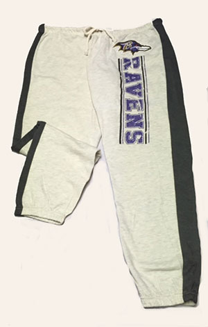 Ladies Ravens Capri Style Sweatpant