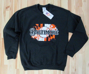 Baltimore Baseball Crew Neck Sweatshirt
