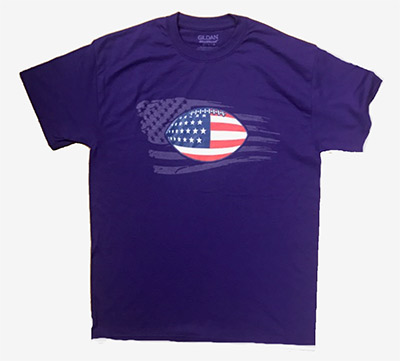 Wild Bill's Patriotic Football T-shirt