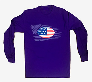 Wild Bill's Patriotic Football Long Sleeved T-Shirts