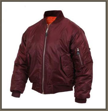 MA-1 Maroon Flight Jacket