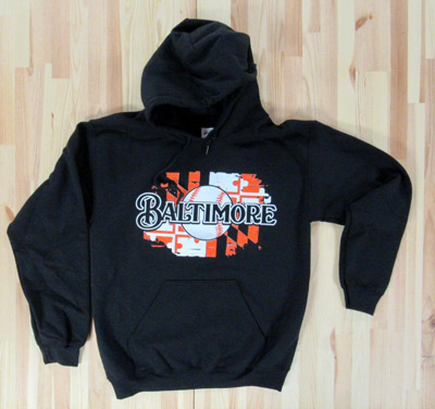 Baltimore Baseball Hooded Sweatshirt