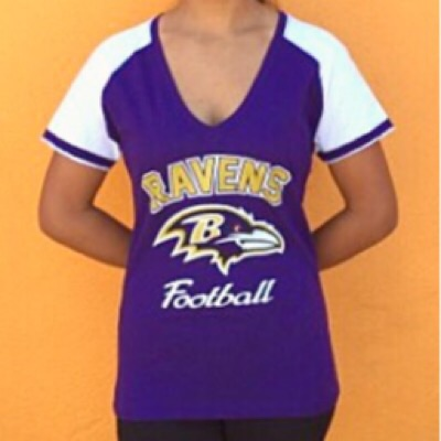 Baltimore Ravens Ladies Game Day T-Shirt