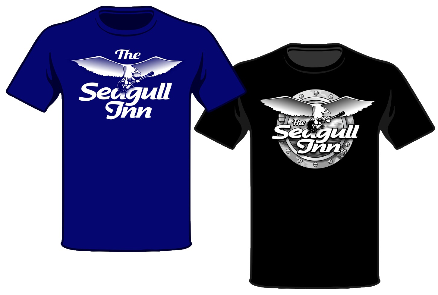 Seagull Inn Rocks Throwback T-shirt
