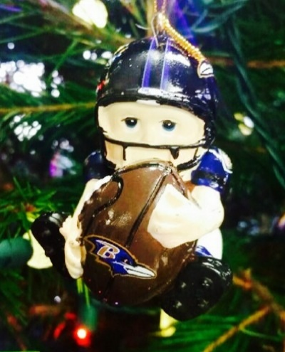 Ravens Player Team Ornament
