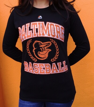Baltimore Orioles Ladies Long Sleeve T-Shirt
