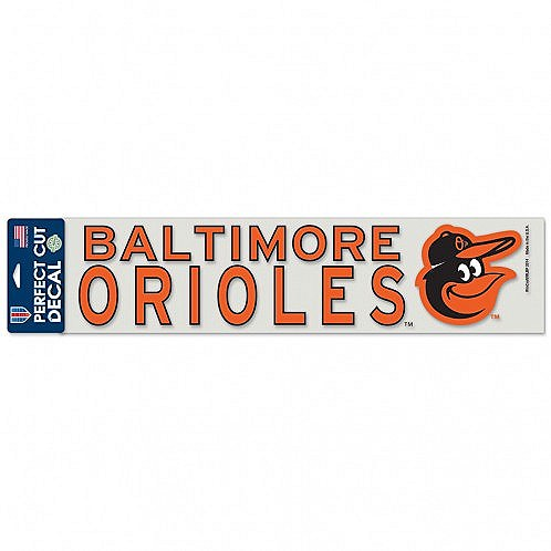 "Baltimore Orioles 4"" x 17"" Full Color Perfect Cut Decal"