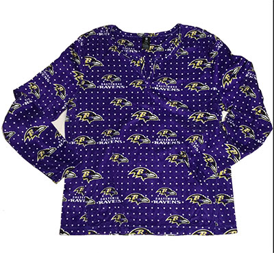 Baltimore Ravens Micro Fleece Nightshirt By Concept Sports
