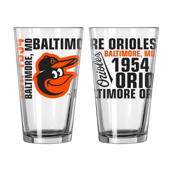 Baltimore Orioles Spirit Pint Glass