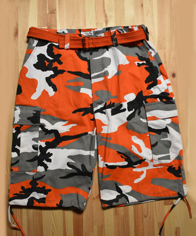 Regal Wear Orange Camo Shorts
