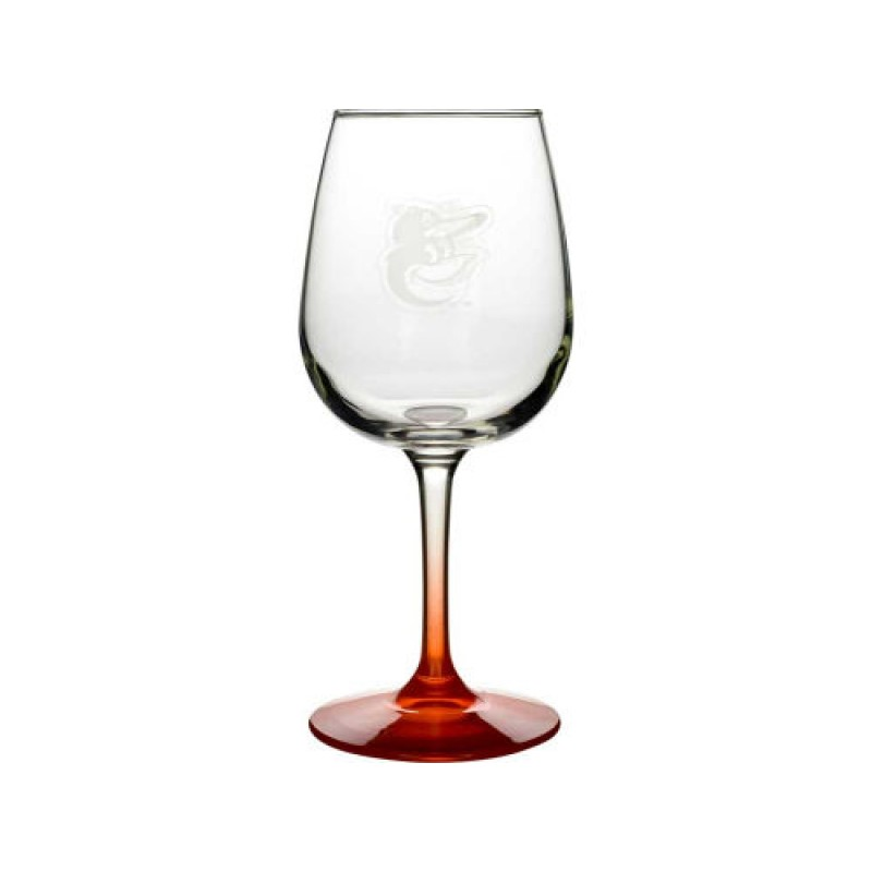 Baltimore Orioles Wine Glass