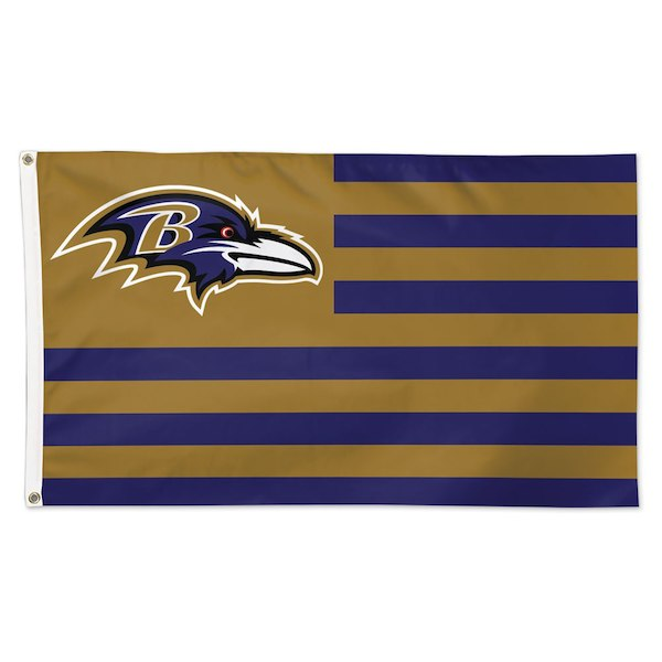 Baltimore Ravens Patriotic House Flag