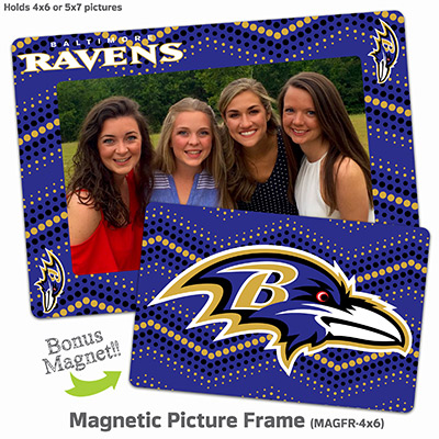 "Baltimore Ravens 4""x6"" Magnetic Picture Frame"