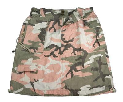 Ladies Subdued Pink Camo Knee Length Skirt