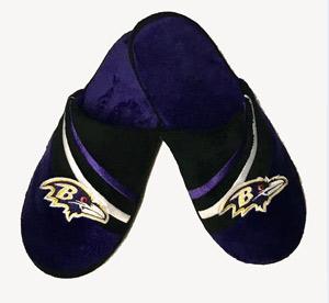 Baltimore Ravens Men's Velour Slippers