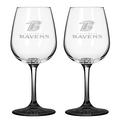 Baltimore Ravens 12oz Color Stem Wine Glass