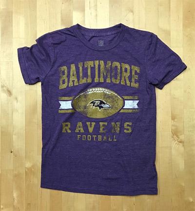 Baltimore Ravens Heathered Purple Soft Style Youth T-Shirt