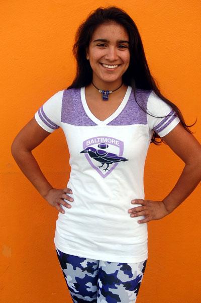 Wild Bill's Retro Baltimore Football Ladies T-Shirt