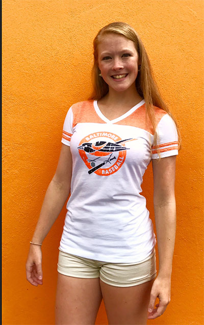 Wild Bill's Ladies Retro Bird Burnout T-Shirt