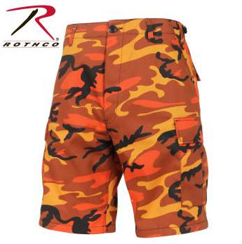 Rothco Savage Orange Camo Shorts