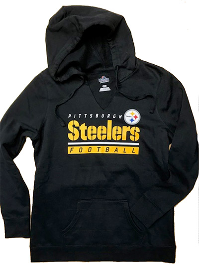Pittsburgh Steelers Ladies Pullover Hooded Sweatshirt