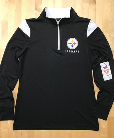Pittsburgh Steelers Ladies 1/4 Zip Pullover Shirt