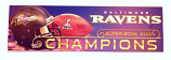 Wooden Super Bowl Champions Sign