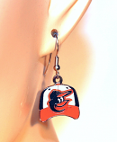 Orioles Hat Dangle Earrings