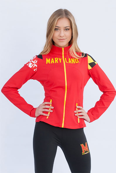 TVA Maryland Terrapins Yoga Jacket