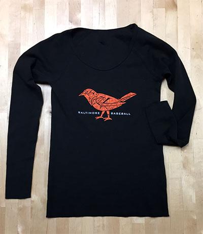 Wild Bill's Paisley Bird Ladies Thermal T-Shirt