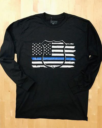 Wild Bill's Thin Blue Line Long Sleeved T-Shirt