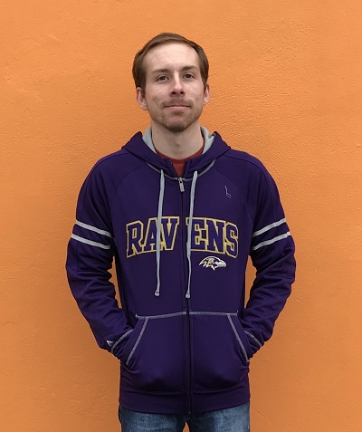 Antigua Raven's Velocity Zip Up Sweatshirt