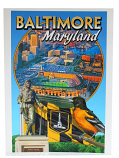 Baltimore Maryland 9 X 12 Art Print