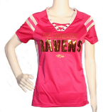 Ravens Pink Lace Up Jersey