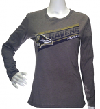 Ravens Heather Grey Long Sleeve T-Shirt